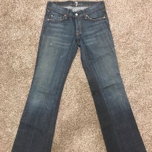 7 for All Mankind jeans w/crystal pocket detail
